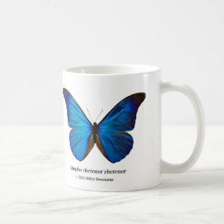 Morpho rhetenor rhetenor classic white coffee mug