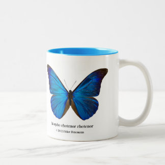 Morpho rhetenor rhetenor Two-Tone coffee mug