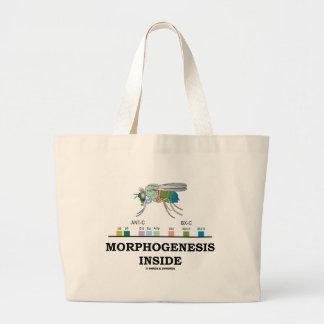 Morphogenesis Inside (Fruit Fly Drosophila Genes) Large Tote Bag