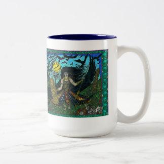 Morrigain Unleashed Two-Tone Coffee Mug