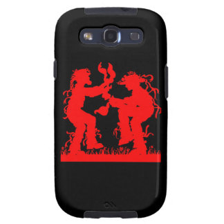 Morris Dancers Mobile Phone Cover in red on black