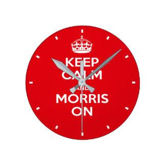Morris Dancer's Red Keep Calm Morris Dancing Clock