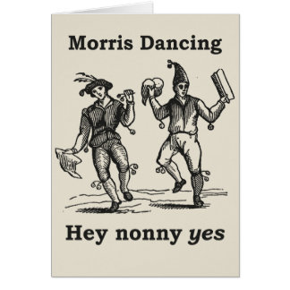 Morris Dancing - Hey Nonny YES card
