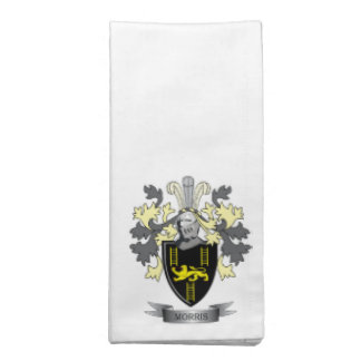 Morris Family Crest Coat of Arms Cloth Napkins