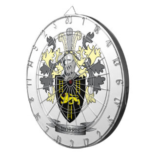 Morris Family Crest Coat of Arms Dartboard