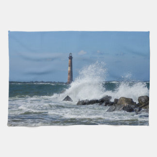 Morris Island Lighthouse Splash Hand Towels