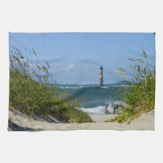 Morris Island Lighthouse Walkway Kitchen Towels