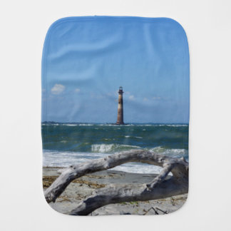 Morris Lighthouse And Tree Remains Burp Cloth