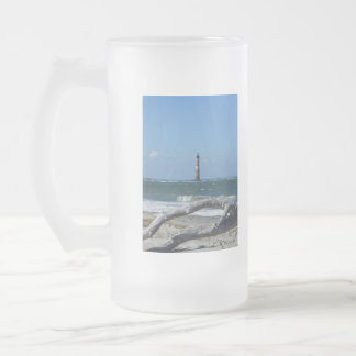 Morris Lighthouse And Tree Remains Frosted Glass Beer Mug