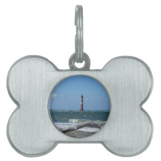 Morris Lighthouse And Tree Remains Pet Name Tag