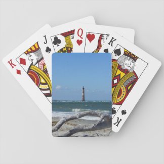 Morris Lighthouse And Tree Remains Playing Cards