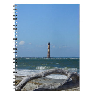 Morris Lighthouse And Tree Remains Spiral Notebook