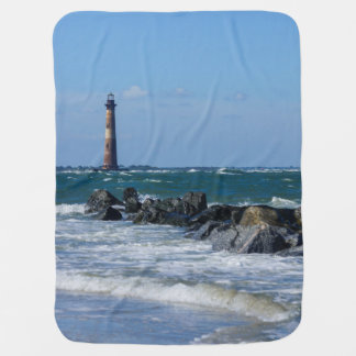 Morris Lighthouse Folly Beach Baby Blanket