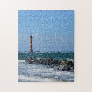 Morris Lighthouse Folly Beach Jigsaw Puzzle