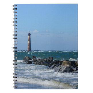 Morris Lighthouse Folly Beach Spiral Notebook