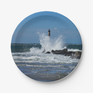 Morris Lighthouse Splash 7 Inch Paper Plate