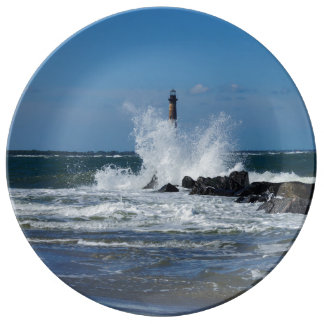 Morris Lighthouse Splash Porcelain Plates