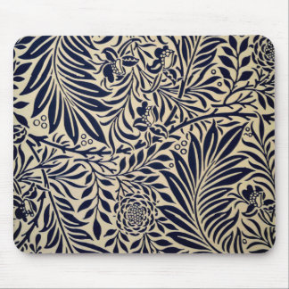 Morris - Spray - Navy Blue Mouse Pad