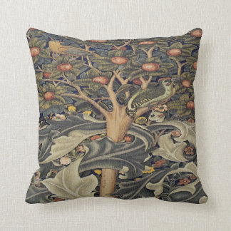 Morris Woodpecker tapestry detail pillow