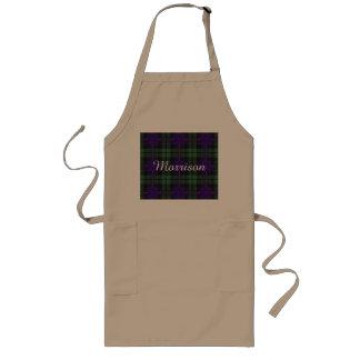 Morrison clan Plaid Scottish tartan Long Apron