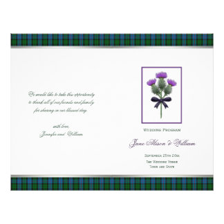 Morrison Tartan and Thistle BiFold Wedding Program