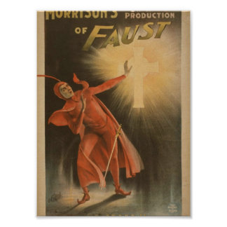 Morrison's of Faust, 'The Cross' Vintage Theater Poster