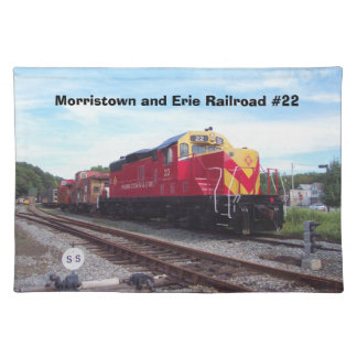 Morristown and Erie Railroad Engine #22 Placemats Cloth Place Mat