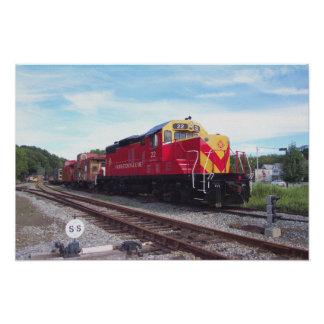 Morristown and Erie Railroad Engine # 22 Poster