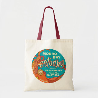 Morro Bay Estuary Octopus Tote with Red Handles