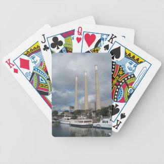 Morro Bay Smokestacks &  Boats Playing Cards
