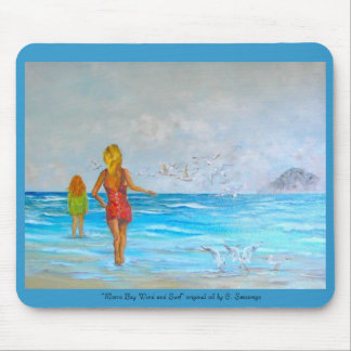"""""""Morro Bay Wind and Surf"""" original ... Mouse Pad"""