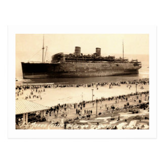Morro Castle Ashore at Asbury Park, NJ Vintage Postcard