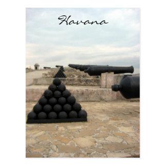 morro castle cannonballs postcard