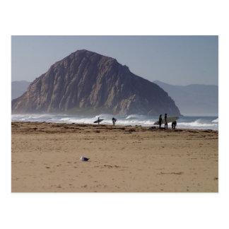 Morro Rock Beaches Surfers Postcard