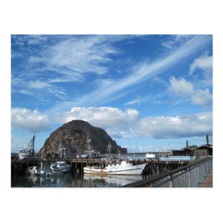 Morro Rock, Fishing Boats and the Embarcadero Postcard