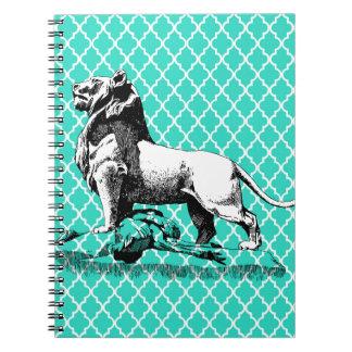 morrocco lion spiral note books