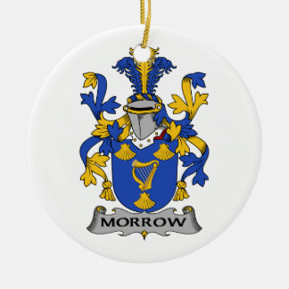 Morrow Family Crest Ceramic Ornament