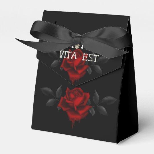 Mors Vita Est - Gothic Design Favor Boxes