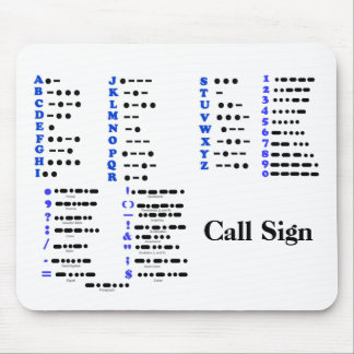 Morse Code Alphabet Numbers Punctuation Mouse Pad