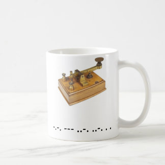 Morse Code Cofee Cup