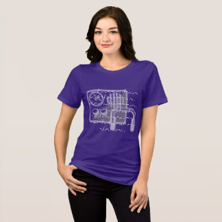 Morse code GB Shaw quote ladies purple t-shirt