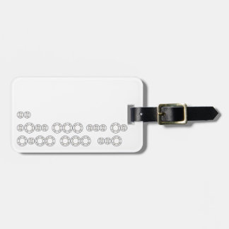 "Morse Code ""I Love You"" Luggage Tag"