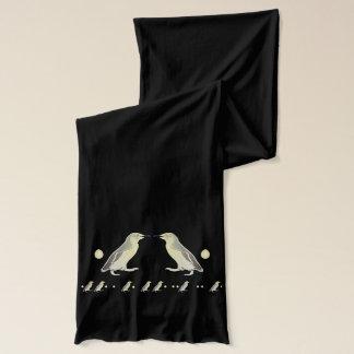 Morse Code Penguin Black Scarf
