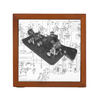 Morse Code Radio Key Schematic Desk Organizer