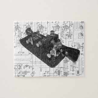 Morse Code Radio Key Schematic Jigsaw Puzzle