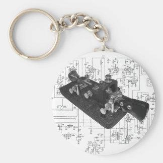 Morse Code Radio Key Schematic Keychain