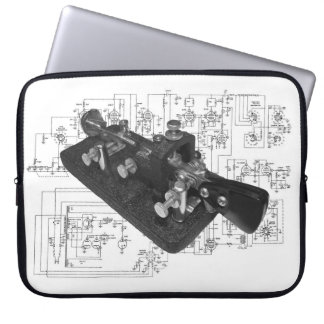 Morse Code Radio Key Schematic Laptop Sleeve