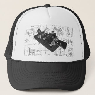 Morse Code Radio Key Schematic Trucker Hat