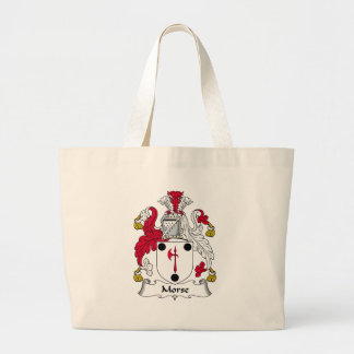 Morse Family Crest Jumbo Tote Bag
