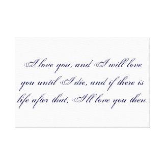 Mortal Instruments quote Canvas Print
